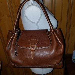 DOONEY BOURKE LARGE PEBBLED LEATHER SATCHEL